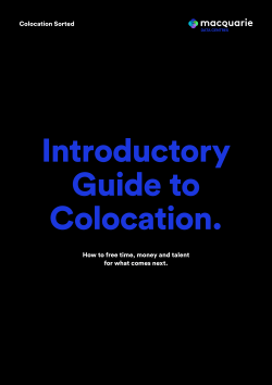 Introductory Guide to Colocation - MDC