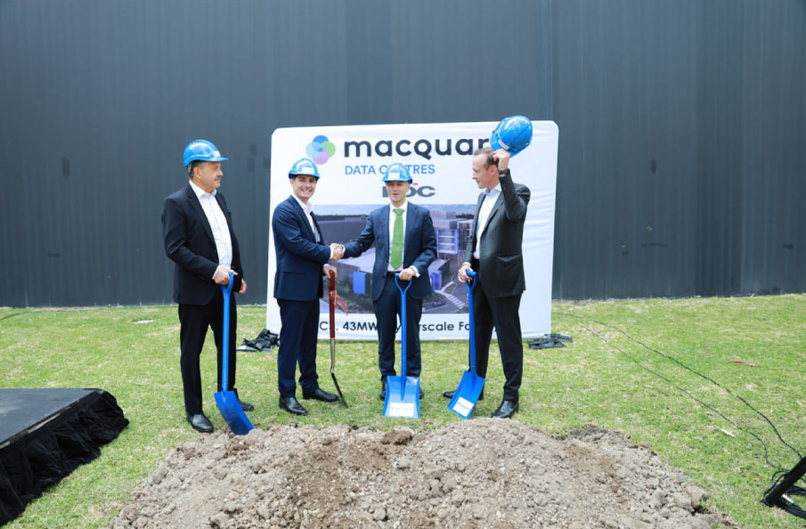 Macquarie Data Centres breaking ground