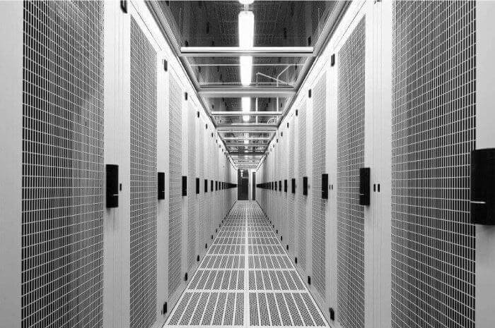 IC4 Canberra Data Center racks